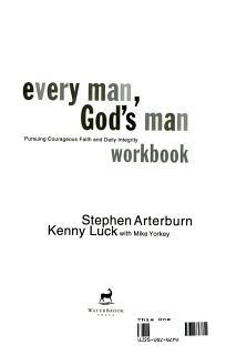 Every Man  God s Man Workbook Book
