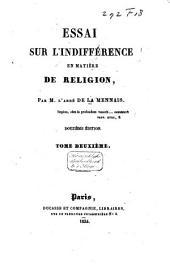 Essai sur l'indifférence en matière de religion: Volume2