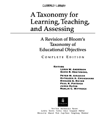 A Taxonomy for Learning  Teaching  and Assessing PDF