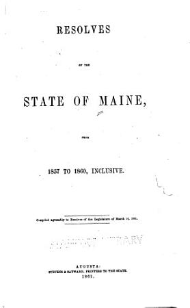 Resolves of the State of Maine PDF