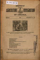 Bulletin - Virginia Department of Agriculture and Immigration: Issue 110