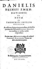 Emendationes et notae in Theocriti Idyllia Bucolica