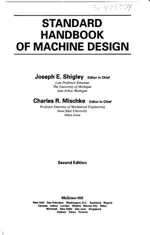 Standard Handbook of Machine Design PDF