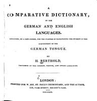 A Comparative Dictionary of the German and English Languages PDF