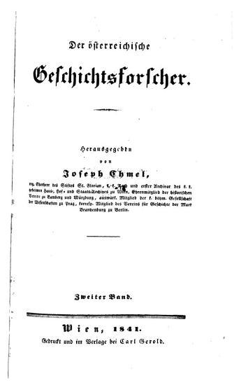 Der   sterreichische Geschichtsforscher PDF