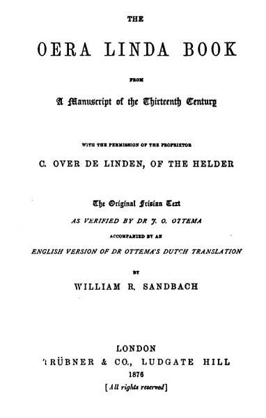 Download The Oera Linda Book Book