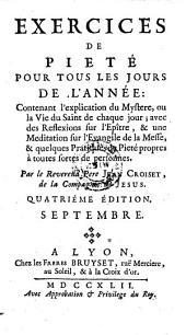 Exercices De Piete Pour Tous Les Jours De L'Annee: Volume9