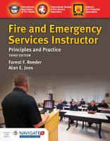 Fire and Emergency Services Instructor  Principles and Practice PDF