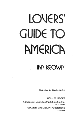 Lovers  Guide to America PDF