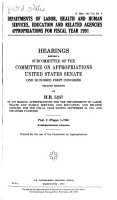 Departments of Labor  Health and Human Services  Education  and Related Agencies Appropriations for Fiscal Year 1991  Nondepartmental witnesses PDF