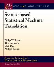 Syntax based Statistical Machine Translation PDF