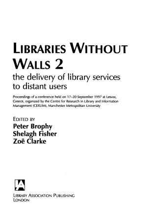 Libraries Without Walls 2 PDF
