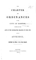 The Charter and Ordinances of the City of Boston PDF