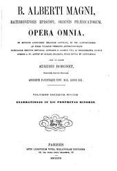 B. Alberti Magni Opera omnia: Volume 19