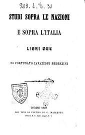 Studi sopra le nazioni e sopra l'Italia