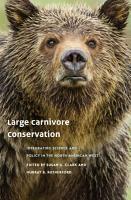 Large Carnivore Conservation PDF