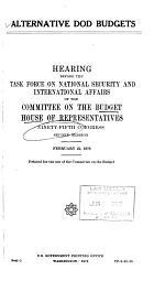 Hearings, Reports and Prints of the House Committee on the Budget