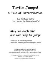 ¡La Tortuga Salta! Turtle Jumps Spanish Version: ¡Un cuento de determinación! A Tale of Determination