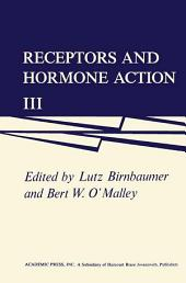 Receptors and Hormone Action: Volume 3