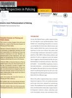 Toward a New Professionalism in Policing PDF