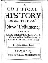 Critical History of the Versions of the New Testament