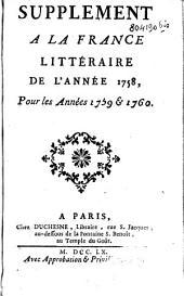 Supplément à la France littéraire...