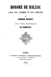 Honoré de Balzac: essai sur l'homme et sur l'oeuvre