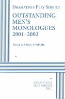 Outstanding Men s Monologues 2001 2002 PDF