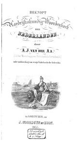 Beknopt aardrijkskundig woordenboek der Nederlanden