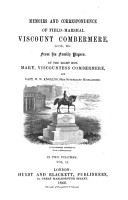 Memoirs and Correspondence of Field Marshal Viscount Combermere  G  C  B   Etc PDF