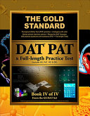 Gold Standard Introduction to the Dat  Perceptual Ability Test  Pat  Practice and Full length Exam  Dental Admission Test  PDF