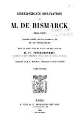 Correspondance diplomatique de m. de Bismarck (1851-1859)