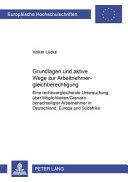 Grundlagen und aktive Wege zur Arbeitnehmergleichberechtigung PDF