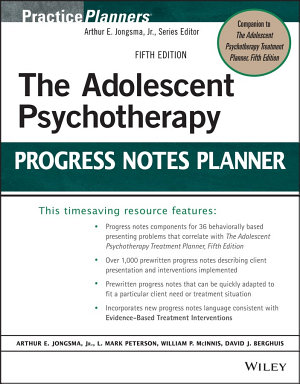 The Adolescent Psychotherapy Progress Notes Planner PDF