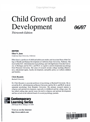 Annual Editions: Child Growth and Development