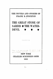 The Great Stone of Sardis: The Water-devil