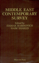 Middle East Contemporary Survey  Volume X  1986