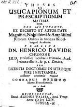 De usucapionum et praescriptionum materia; resp. Conrad Grambs