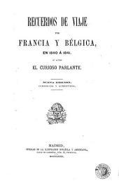 Recuerdos de viaje por Francia y Bélgica, en 1840 á 1841