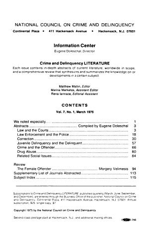 Crime and Delinquency Literature PDF