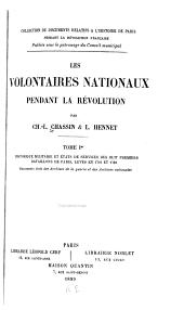 Les volontaires nationaux pendant la révolution: Volume1