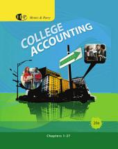 College Accounting, Chapters 1-27: Edition 20