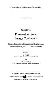 Sixth E C  Photovoltaic Solar Energy Conference PDF