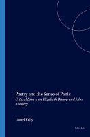 Poetry and the Sense of Panic PDF