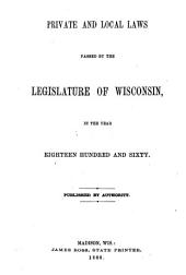 General Laws Passed by the Legislature of Wisconsin