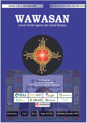 Wawasan  Jurnal Ilmiah Agama dan Sosial Budaya  Vol  4 No  2  2019
