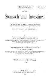 Diseases of the Stomach and Intestines: A Manual of Clinical Therapeutics for the Student and Practitioner, Part 876; Part 1886