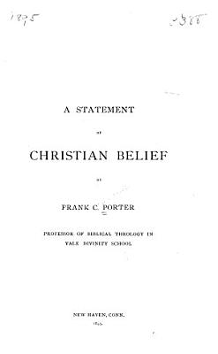 A Statement of Christian Belief PDF