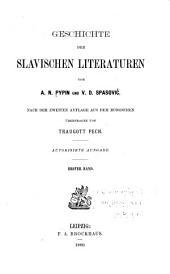 Geschichte der Slavischen literaturen: Band 1