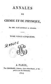 Annales de chimie et de physique: Volume25